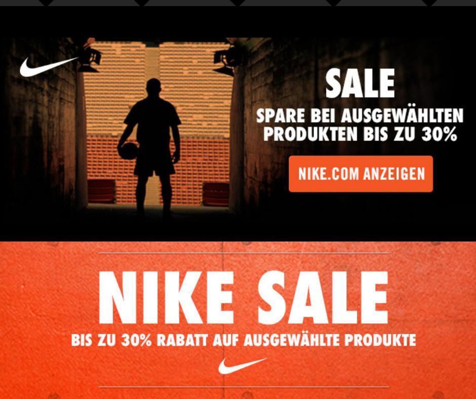 Nike Black Week Promo 30% Rabatt auf Sneaker & Sportswear