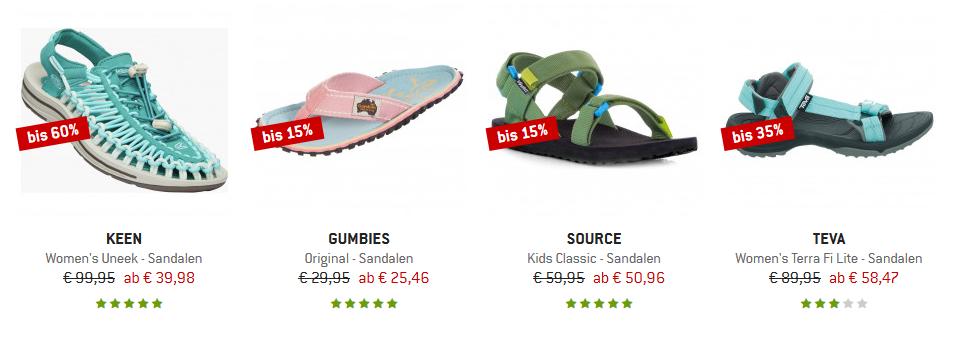 Outdoor Sandalen günstig